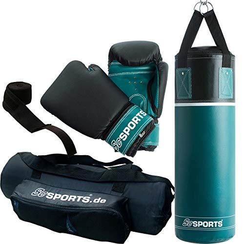 ScSPORTS Boxsack-Set, für Kinder und Jugendliche, Box-Set mit Boxhandschuhen, Boxbandagen und Tasche, 5,5 kg,...