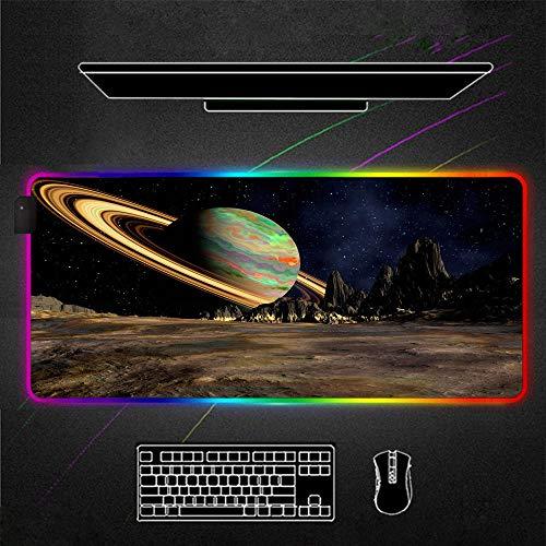 ZETIAN Glühende RGB-Mauspads Übergröße Verwendete Matte Gaming Mauspad Große Tastatur Pad Gaming Zubehör...