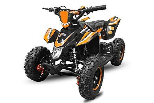 Mini Quad Madox 49cc E-Start 6' ATV Quad Kinderfahrzeug Kinderquad Bike Pocket (Orange)