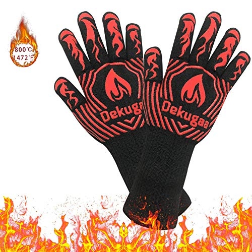 osolay Grillhandschuhe,BBQ Gloves,Ofenhandschuhe BBQ Kochenhandschuhe,Backhandschuhe Hitzefeste Handschuhe...