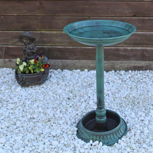 CLGarden Vogeltränke VGT1 Vogelbad Vogel Tränke Bad mit Fuß zum bepflanzen antike Schale