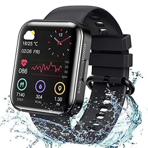 KOSPET Smartwatch, 1.71 Zoll Voll Touchscreen Armbanduhr, Fitness Tracker mit Blutdruckmessung Pulsuhr...
