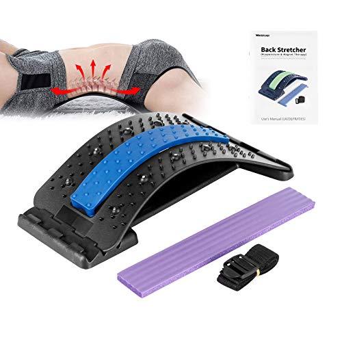 Wskderliner Rückendehner Back Stretcher Rückenmassage 4 Einstellbare Traktionsstufen Rückenstrecker für...