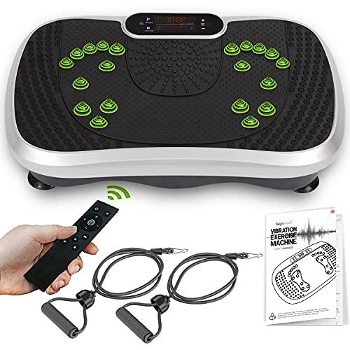 Vibrationsplatte - Ganzkörpertraining & Fitness mit 99 Intensitätsstufen für Muskelaufbau & Homeworkout -...