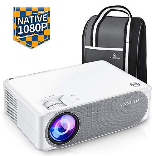 Beamer 6800 Lumen, Native 1080p Beamer Full HD, VANKYO Performance V630 Beamer Heimkino, mit...