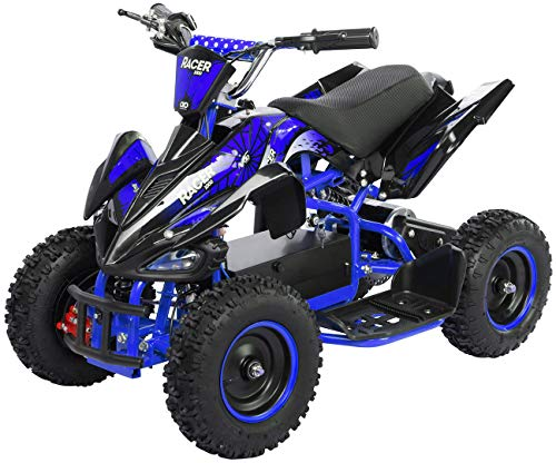 Actionbikes Motors Kinder Elektro Miniquad ATV Racer 1000 Watt 36 Volt - Scheibenbremsen - Safety Touch System...