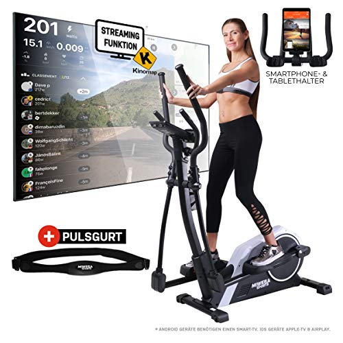 Miweba Sports Crosstrainer MC300 Stepper Ellipsentrainer Heimtrainer - App Steuerung - 21 Kg Schwungmasse -...