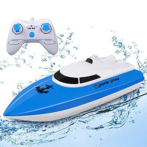 STOTOY Ferngesteuerte Boote ,RC Boot für Pools und Seen, elektrisches Mini-Schnellboot mit 2,4 GHz für...