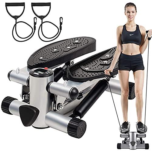 BSET BUY Mini Stepper,Twister Stepper mit Power Ropes,Stepper für Zuhause,Step Fitnessgeräte Verstellbare...