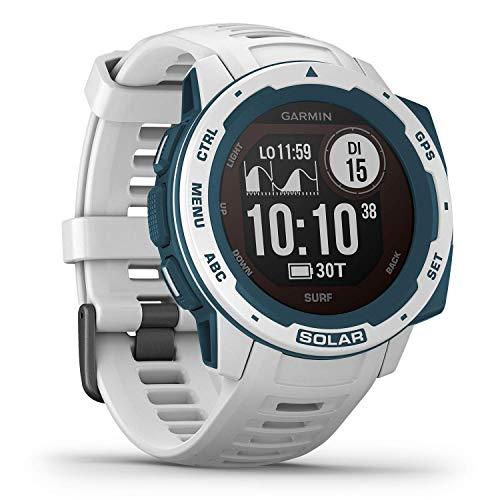 Garmin Instinct Solar Surf – robuste GPS-Smartwatch mit Surf App und Solar-Ladefunktion für bis zu 54 Tage...