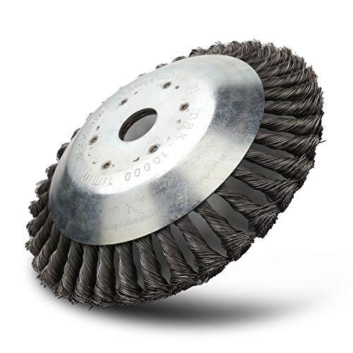 BOMT Unkrautbürste 200 x 25.4 mm Rundbuerste fuer Motorsense Twist Wire Wheel Bürste Professional Brush...
