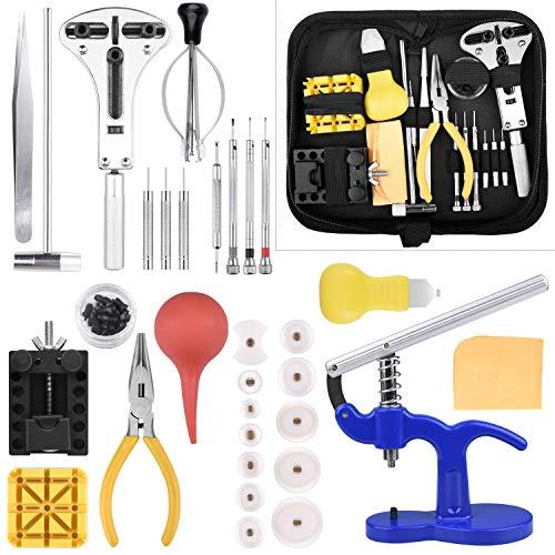 ETEPON Uhrenwerkzeug Set 18-teilig Uhren Reparatur Set Profi Uhrmacherwerkzeug Uhr Reparatur Werkzeug mit...