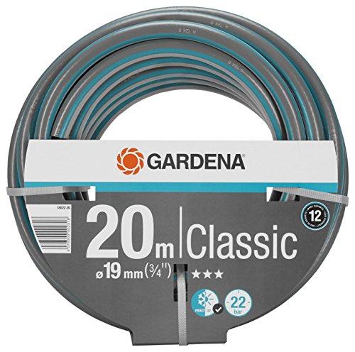 Gardena Classic Schlauch 19 mm (3/4 Zoll), 20 m: Universeller Gartenschlauch aus robustem Kreuzgewebe, 22 bar...