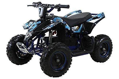 Actionbikes Motors Kinder Elektro Miniquad Fox XTR 1000 Watt 48 Volt - Gelochte Scheibenbremsen - 3...