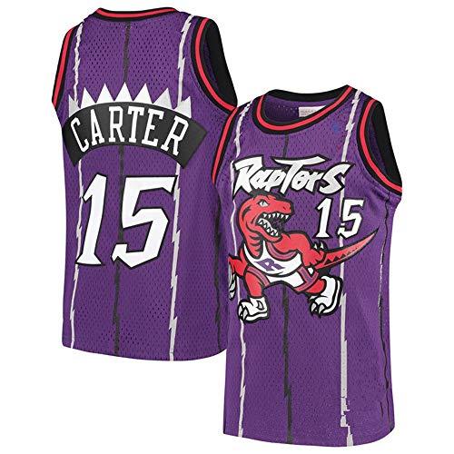 Männer Basketbal Jersey NBA Toronto Raptors Vince Carter 15 Jeugd Ausbildung Sport Ademend Kleding Purple-L