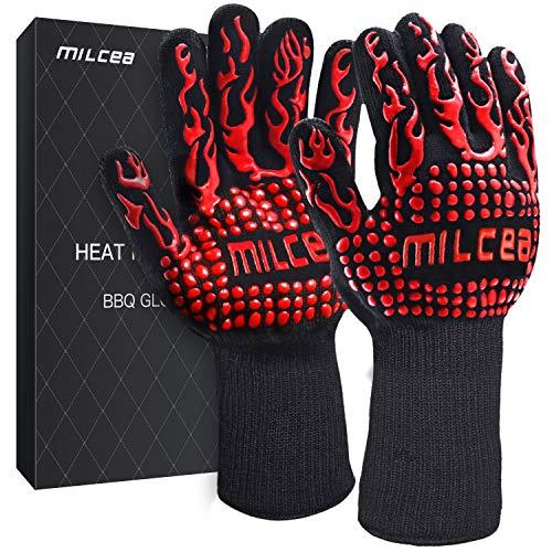 MILcea Grillhandschuhe Ofenhandschuhe BBQ Handschuhe Hitzebeständige Grillhandschuhe Backhandschuhe...