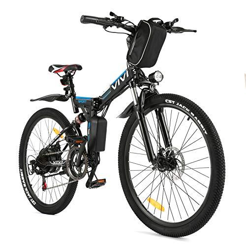 VIVI E Bike Herren Elektrofahrrad, 26 Zoll Mountainbike Elektro Klapprad Mit Herausnehmbarer 8Ah Batterie,...