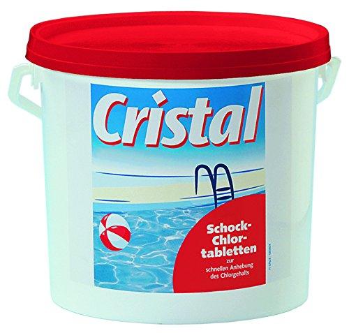 Cristal 3 kg Schock-Chlortabletten schnell lösliche 20 g Tabs - Mini Chlortabs für die sofort wirksame...