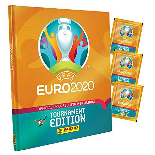 Panini France SA Euro 2020 Sticker 2021 Tournament Edition 10 Hüllen + Album
