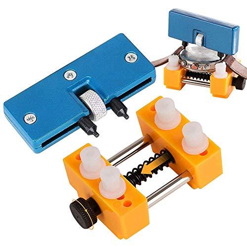 Uhrmacherwerkzeug Set, Uhrenreparaturset Uhr Batteriewechsel Werkzeug mit Uhrenöffner Gehäuseöffner...