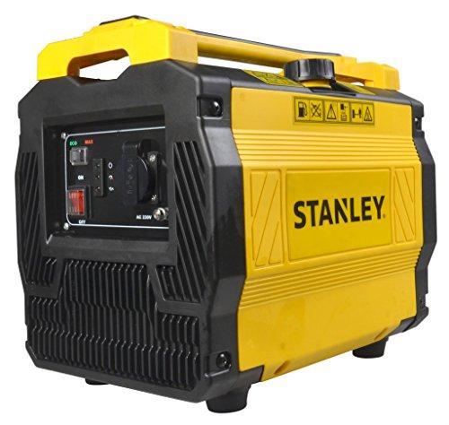 Stanley Stromgenerator Benzin leise, inverter, 1000 Watt, 6.5 Stunden Laufzeit, lmangelsicherung, Eco-Betrieb,...
