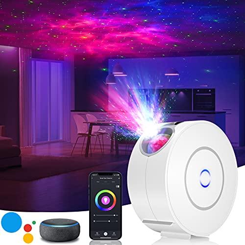 LED Sternenhimmel Projektor,3D Galaxy Projektor Light mit RGB Dimming,Smart Nachtlicht mit Alexa/Google...