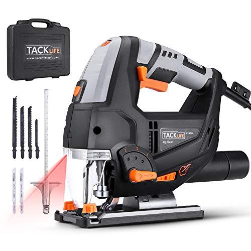 TACKLIFE 800W Elektro Stichsäge mit Laser & LED, 3000SPM, mit 6 Blättern, 6-Geschwindigkeitsvorwahl,...