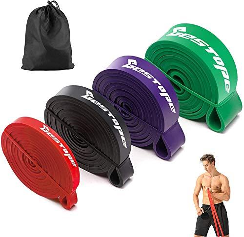 BESTOPE Widerstandsbänder Pull Up Assist Bänder für Powerlifting und Yoga Premium Latex Langlebiges...