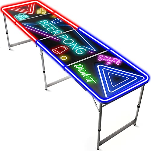 Offizieller Spotlight Beer Pong Tisch | Mit LED Beleuchtung | Offizielle Wettkampfmaße | Beer Pong Table |...