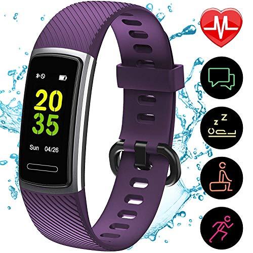 [Aktualisierte 2020 Version] Fitness Armband mit Pulsmesser,IP68 Wasserdicht Smartwatch Aktivitätstracker...