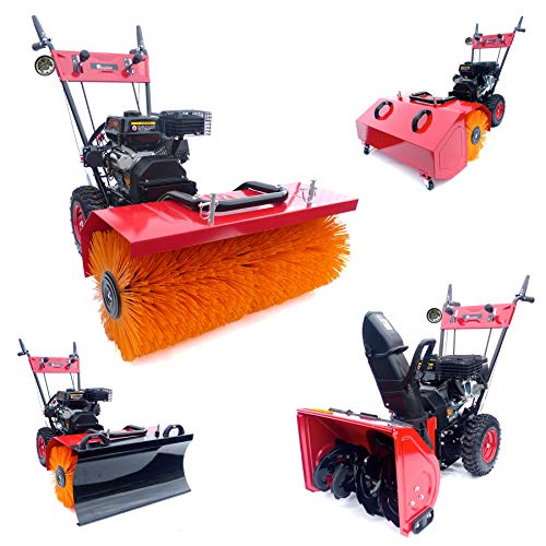 KnappWulf Kehrmaschine XL Kehrbreite mit verschiedenen Aufsätzen 4in1 inklusive LED Lampe