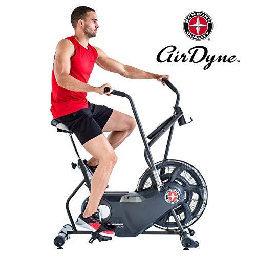 Schwinn Airdyne AD6, Fitnessbike mit grenzenlosem Luftwiderstand, LCD-Konsole, drahtlose Herzfrequenzmessung,...
