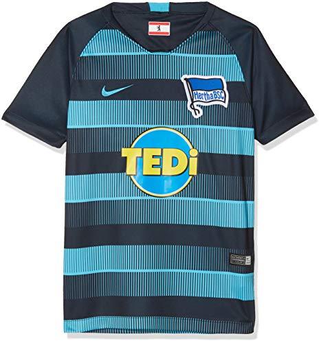 Nike Kinder Hertha BSC Breathe Stadium Away T-Shirt, Dark Obsidian/Chlorine Blue, M