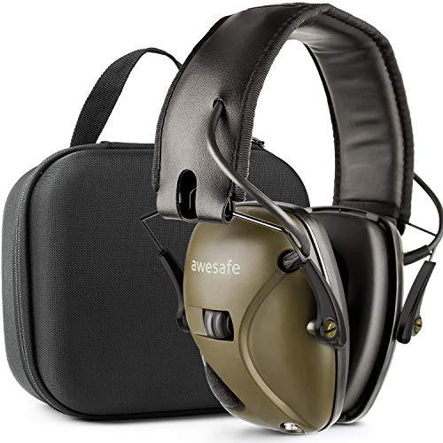 Awesafe Gehörschutz für Schießstand, Elektronischer Gehörschutz für Schlagsport [Kommt mit Hard Travel...
