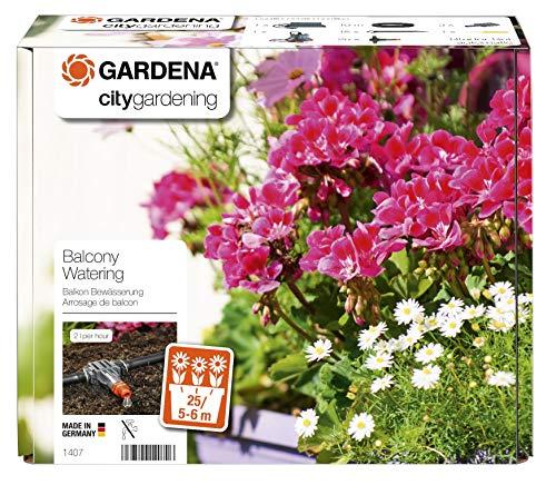 Gardena city gardening Balkon Bewässerung: Vollautomatisches Blumenkastenbewässerungs-Set, für bis zu 6 m...