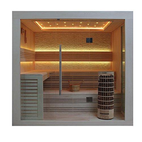 EO-SPA Sauna E1247B helle Pinie/200x180/9kW Cilindro