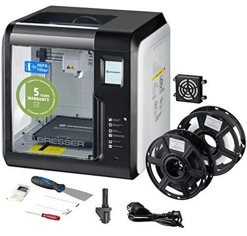 Bresser 3D Drucker mit WLAN und integrierter Kamera, inklusive HEPA Filter für saubere Abluft, Spachtel, 2...