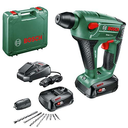 Bosch Akku Bohrhammer UneoMaxx (2 Akku, 18 Volt System, max. Bohrdurchmesser in Beton 10 mm, im Koffer)