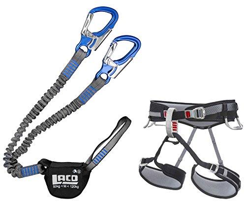 LACD Klettersteigset Pro Evo Blue + Gurt Start Größe M - Via Ferrata Set