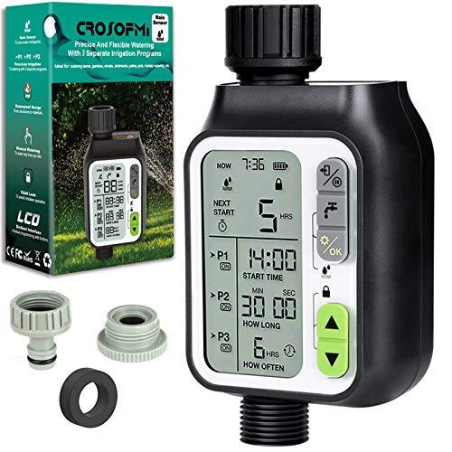 CROSOFMI Bewässerungscomputer Automatische Garten Bewässerungssystem Smart Control Gartenbewässerung...