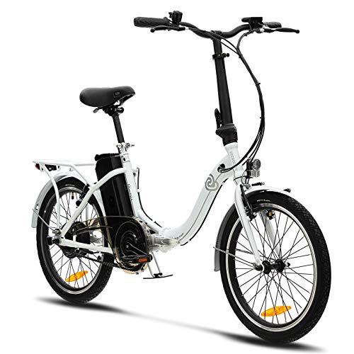 VecoCraft Nemesis Elektro Klapprad,E Bike 20 Zoll,E-Folding Bike mit ausziehbarer Baterrie 36V 13Ah, 250W...