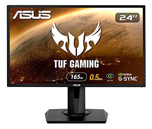 ASUS VG248QG 60,96 cm (24 Zoll) Gaming Monitor (Full HD, G-Sync Compatible, DVI, HDMI, DisplayPort, 0,5ms...