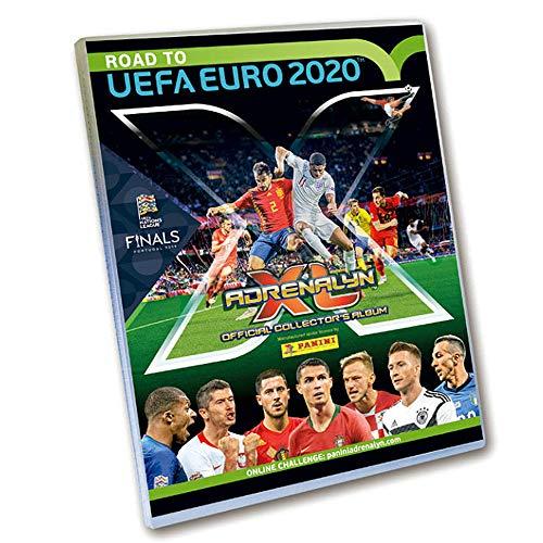 Sammelkarten Road to Euro 2020, Starterset, Sammelordner, Magazin, Spielfeld, 5 Booster und limitierte Karte