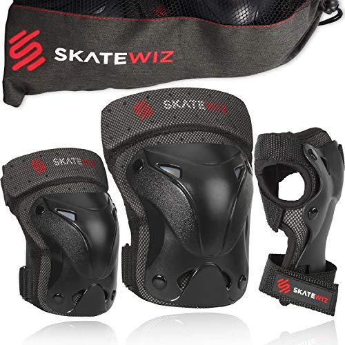 SKATEWIZ Protect-1 Protektoren Kinder 3 Jahre - Größe XS in SCHWARZ - Longboard Rollerskate Hoverboard...