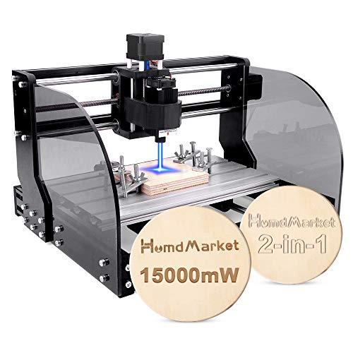 【2 In 1】CNC Fräsmaschine Laser Engraving Machine 3018 Pro Max GRBL Steuerung Perfektes Set für Anfänger...