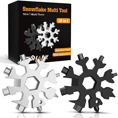 Hinshark Geschenke für Männer - 18-in-1 Schneeflocken Multi-Tool, Adventskalender Männer 2020, Gadgets für...