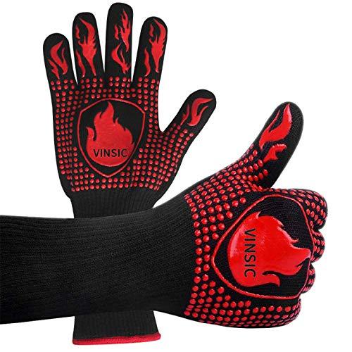 Hitzebeständige Handschuhe BBQ Handschuhe Grillhandschuhe 800 ℃ Extrem hitzebeständige...