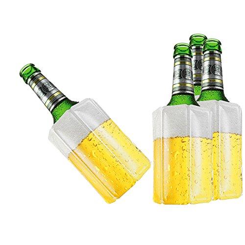 TS Exclusiv Bier Kuehlmanschette Bierkühler Flaschenkühler Getränkekühler (4er Pack)