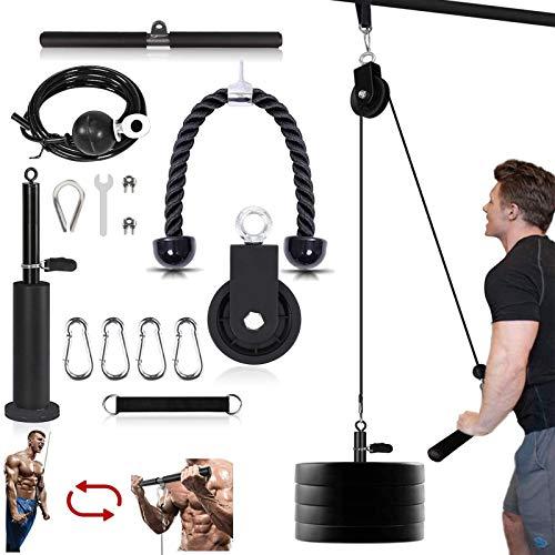 Seilzug Fitness LAT Lift Flaschenzugsystem Professionelle Seilzugmaschine Muskelkraft Fitnessgeräte für...
