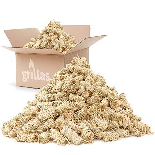 grillas Bio-Kaminanzünder 5 kg aus Holzwolle, in Wachs getränkt | Kohleanzünder | Grillanzünder |...